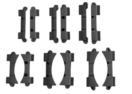 Ersatzband Uhrarmband 6 x Wechselanstoß IP schwarz 18mm, 20mm, 22mm 23942 - Vorschau 4