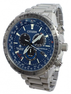 Citizen Herrenuhr Eco-Drive Funk-Chronograph Titangehäuse-, & Band CB5010-81L