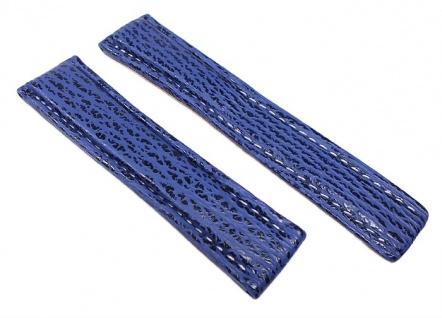 Neptun Uhrenarmband Haileder Band Blau passend zu Breitling (N) 22448F