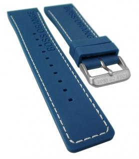 Hugo Boss Orange 1513250 | Uhrenarmband 24mm Silikon Band, blau 31370