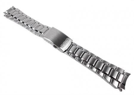 Casio Uhrenarmband 19mm Edelstahl Band Silberfarben für MTD-1046