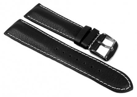 Dakar Uhrenarmband Walknappa schwarz mit Kontrastnaht - XL Länge 24355S
