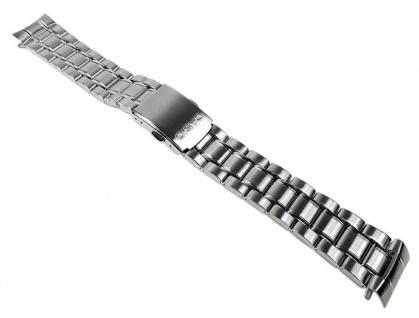 Casio Uhrenarmband Edelstahl Band Silberfarben für MTD-1050A