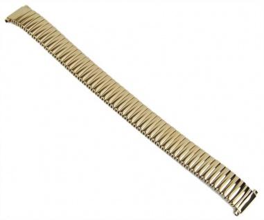 Minott Flexband Zugband Ersatzband Edelstahl IP Gelbgold 12mm - 14mm