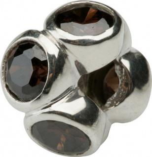 Charlot Borgen Marken Damen Bead Beads Drops Silber mit Zirkonia SCZ-10-Braun - Vorschau