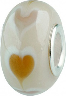 Charlot Borgen Marken Damen Bead Beads Drops Kristallglas Silberkern GPS-08Beige