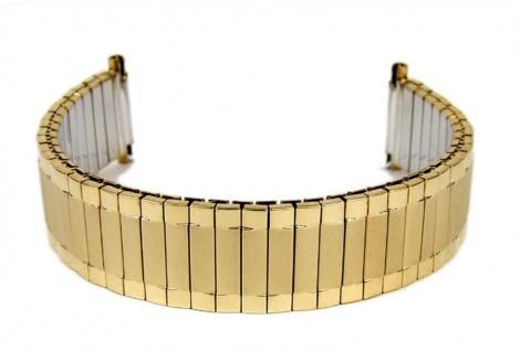 Minott Flexband Zugband Ersatzband Edelstahl IP Gelbgold 16mm - 20mm