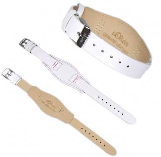 s.Oliver Uhrenarmband Leder Band 14mm weiß SO-2234-LQ - Vorschau 2