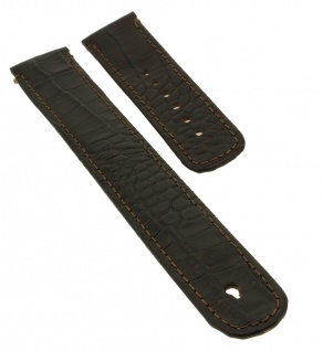 Junghans MEGA Ersatzband 20mm Leder braun Krokoprägung 029/7400 019/4713 019/7403 019/7714