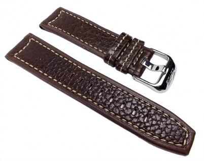 Lotus Ersatzband Uhrenarmband Leder Band Braun 23mm für L15433/7 L15433