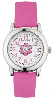 Adora Young Line analoge Quarz Armbanduhr aus Edelstahl mit pink Kunststoffband