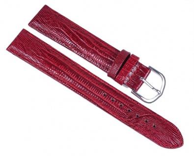 Minott Eidechs-Narbung Uhrenarmband Kalbsleder Band XL Rot 23585S
