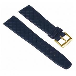 Graf Manufaktur Jazz Uhrenarmband Kalbsleder Band Blau Rautenmuster 26230G
