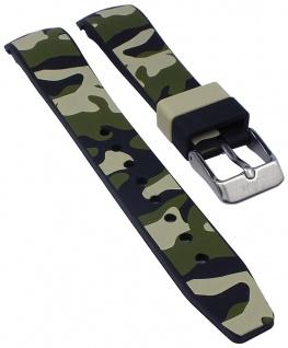 s.Oliver Uhrenarmband Silikon Band weich 17mm camouflage SO-2998-PQ