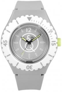 Solar Uhr Unisex Q&Q RP04J005Y SmileSolar 20 Bar gelb/grau/weiß