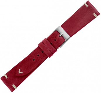 Minott Premium Ersatzband Kalbsleder rot vintage Ziernaht flach
