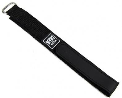 Minott Uhrenarmband Sport-Watch Loop schwarz 18mm / 20mm 18463S