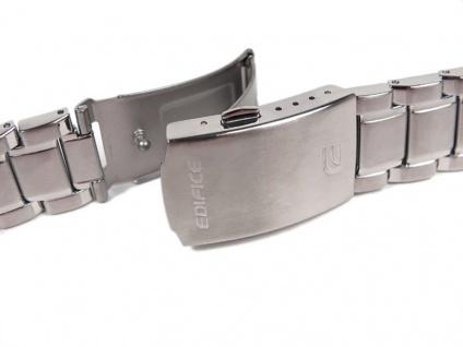 Casio Edifice Uhrenarmband Edelstahl Band 22mm für EF-334D EF-334 - Vorschau 2