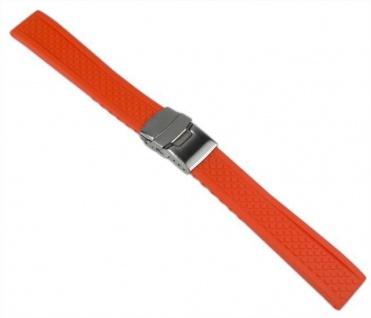 Minott Uhrenarmband Silikon Band Orange 20mm