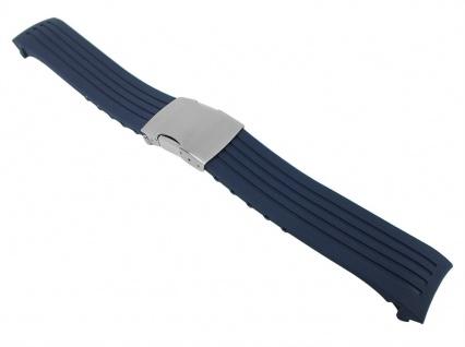 Citizen Skyhawk Taucherband Ersatzband Diver Wasserfest 22mm Blau für Citizen JY0064-00L