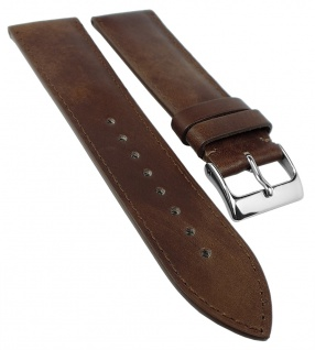 Herzog Uhrenarmband 18mm, 20mm, 22mm   Kalbsleder, maroni-braun, Handmade in Italy 32216
