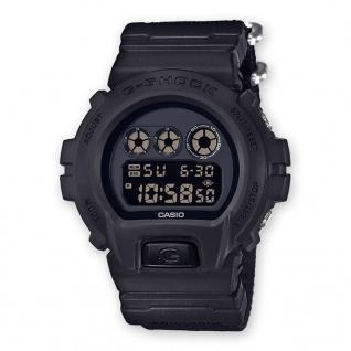 Casio G-Shock Digitale Herrenuhr DW-6900BBN-1ER in schwarz mit Multifunktionsalarm