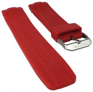Calypso Watches Uhrenarmband Kunststoff Band rot mit Struktur für Modell K5704/4