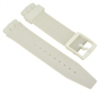 Minott Uhrenarmband 21mm Silikon Weiß Transparent passend zu Swatch Irony