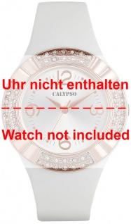 Calypso Ersatzband rosa Kunststoff Dornschließe silberfarben Spezial Anstoß K5659/1 K5659