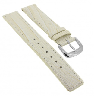 Bruno Banani Magic Ersatzband 17mm weiß/beige aus Leder glänzend CD3386 CD3387