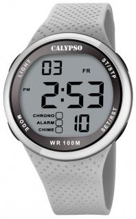 Calypso digitale Armbanduhr | Kunststoffgehäuse & Band > grau | Datum > Alarm K5785/1