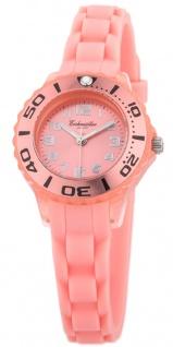 Eichmüller Kinderuhr analog Uhr rosa Armbanduhr Kunststoff Silikonband 3ATM Quarzwerk