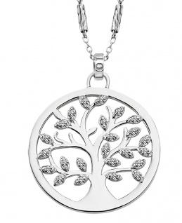 Lotus Silver Halsschmuck Collier Kette mit Lebensbaum Anhänger Silber LP1892-1/1