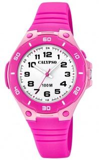 Calypso Kinderarmbanduhr analoge Quarzuhr aus Kunststoff für Mädchen in pink K5758/3