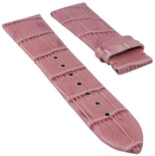 Candino Uhrenarmband Leder Band pink mit Krokoprägung ohne Schließe für Modell C4284 C4283