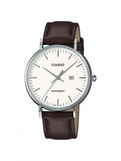 Casio Collection Klassische Retro Damenuhr Analog mit Lederarmband LTH-1060L-7AER