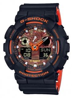 Casio G-Shock digitale Herrenuhr bicolor Resin Antimagnetisch GA-100BR-1AER