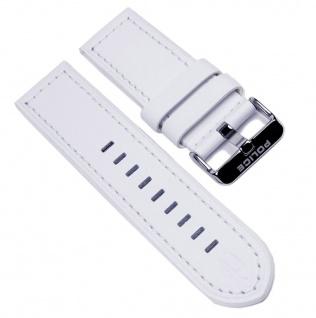 Police Uhrenarmband Leder Band Weiss für Lancer Herrenuhr P12591JSBS-01