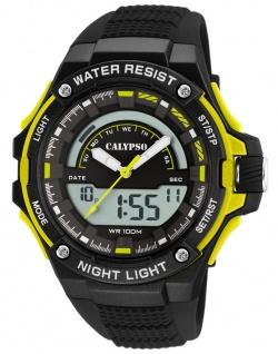 Calypso Digital Armbanduhr PU-Band schwarz Kunststoff Quarzwerk K5768/1 K5768