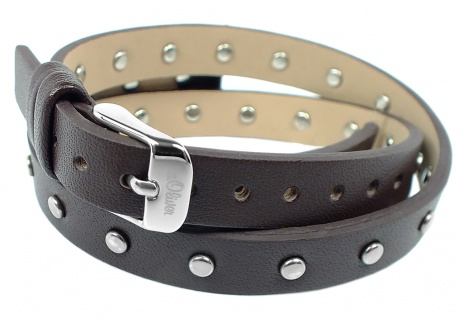 s.Oliver Ersatzband 10mm   Uhrenarmband aus Leder in braun mit Dornschließe SO-2284-LQ