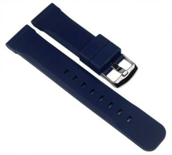 Minott Uhrenarmband Silikon Band Dunkelblau 22mm