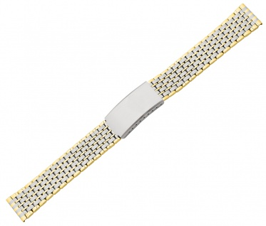 Minott Uhrenarmband Edelstahl PVD bicolor matt/glänzend Faltschließe