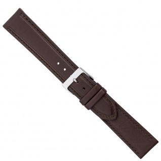 Uhrenarmband Ersatzband Leder Band Dunkelbraun 26582S