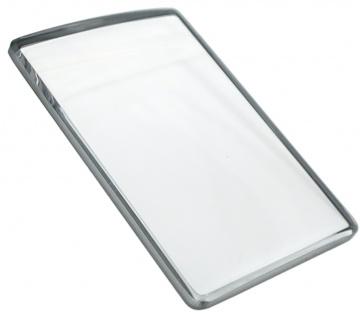 Festina Mineralglas Ersatzglas eckig Rand silberfarben Glas F16325