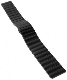 Minott Uhrenarmband Edelstahl Band schwarz matt massiv 31164S
