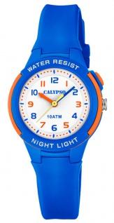 Calypso Kinder Quarzuhr Kunststoff blau Silikonband Hintergrundlicht K6069/3