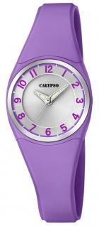 Calypso   Damenarmbanduhr Quarzuhr Kunststoffuhr mit Kunststoffband lila analog K5726/4