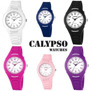 Calypso Damenarmbanduhr Quarzuhr Kunststoffuhr mit Polyurethanband analog alle Modelle K5700