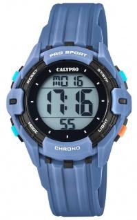 Calypso Kinderarmbanduhr Quarz Digital Kunststoff blau mit 2. Zeitzone Alarm Stoppfunktion K5740/1