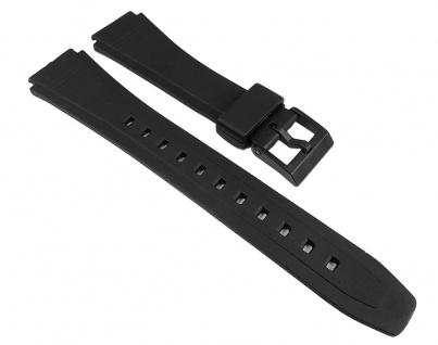 Uhrenarmband Kunststoff Band glatt schwarz 18mm Minott 25039